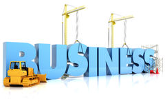Building your Business. BUSINESS word, representing business development Royalty Free Stock Images