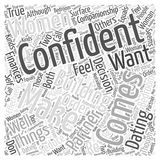 Building Your Confidence in Dating Women wordcloud concept Royalty Free Stock Image