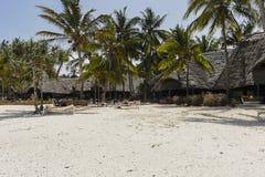 Building on Zanzibar beach Royalty Free Stock Photo
