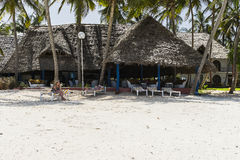 Building on Zanzibar beach Royalty Free Stock Photography