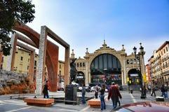 Building of Zaragoza market Royalty Free Stock Photography