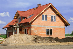 Building_a_house Stock Images