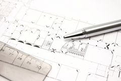 Buildingplan Stock Photography