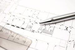 buildingplan Стоковая Фотография