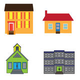 Buildings. Small buildings for office or house construction Stock Image