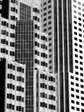 Buildings. Picture represents two modern office buildings in black and white Royalty Free Stock Photo