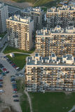 Buildings. District of old sovietic block houses in Vilnius (Lithuania) - view from air Royalty Free Stock Photo