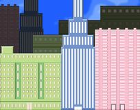 Buildings. Illustration of office style buildings Royalty Free Stock Photography