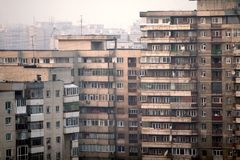 Buildings. Many old blocks in Bucharest Royalty Free Stock Images