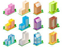 Buildings. City buildings vector art easy to resize or change color Stock Photos