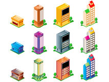 Buildings. City buildings vector art easy to resize or change color Royalty Free Stock Image