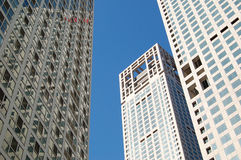 Buildings. Office buildings reaching to the sky. shot at Central Business District, Beijing Royalty Free Stock Image