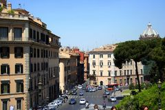 Buildings. The buildings in rome (centre Stock Photography