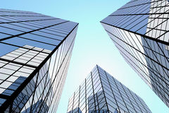 Buildings. Walls of mirror buildings against a decline Stock Images