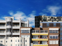 Buildings. Lots of buildings including apartments, offices etc Royalty Free Stock Photos