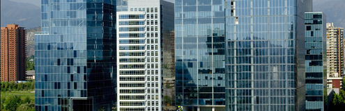 Buildings. Chile: office Buildings in santiago de chile Stock Photos