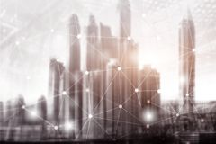 Buildings abstract background. Universal Wallpaper Concept City. Buildings abstract background. Universal Wallpaper Concept City royalty free illustration