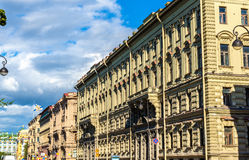 Buildings on the Admiralty Embankment in Saint Petersburg, Russi Royalty Free Stock Photo