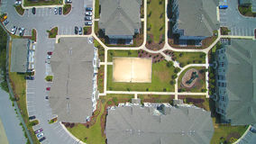 Buildings - Aerial View. A picture of buildings/apartment complex from an aerial view Stock Photos