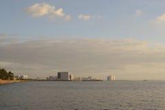 Buildings-afar. Manila Philippines, city skyline view from manila bay Stock Photos
