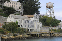 Buildings on Alcatraz Island Stock Images