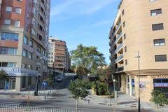Buildings in Algeciras, Spain. Modern buildings in central Algeciras, Spain Stock Photo