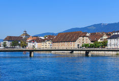 Buildings along the Aare river in Solothurn, Switzerland Stock Photography
