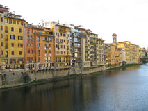 Buildings Along the Arno River Royalty Free Stock Photography