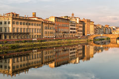 Buildings along the Arno River Stock Photos