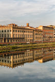 Buildings along the Arno River Stock Image