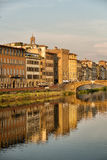 Buildings along the Arno River Royalty Free Stock Photo