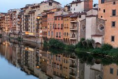 Buildings along the Arno River Stock Photography