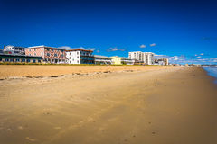 Buildings along the beach at Old Orchard Beach, Maine. Stock Image