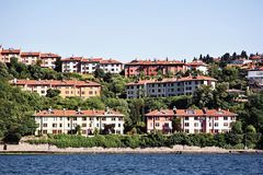 Buildings along Bosporus Royalty Free Stock Photography