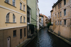 Buildings along Certovka, in Prague, Czech Republic. Royalty Free Stock Images