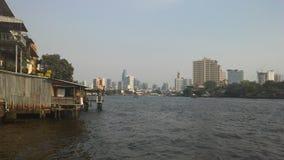 Buildings along Chao Phraya River in Bangkok, Thailand. Buildings along Chao Phraya River in Bangkok in Thailand Royalty Free Stock Photo