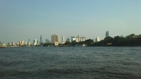 Buildings along Chao Phraya River in Bangkok, Thailand. Buildings along Chao Phraya River in Bangkok in Thailand Royalty Free Stock Images