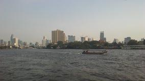 Buildings along Chao Phraya River in Bangkok, Thailand. Stock Photography
