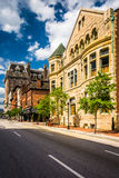 Buildings along Charles Street in Baltimore, Maryland. Stock Images