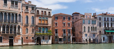 Buildings along Grand Canal in Venice Stock Photos