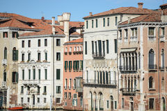 Buildings along the Grand Canal in Venice Stock Photography