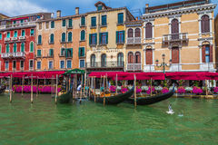 Buildings along Grand Canal of Venice Italy Royalty Free Stock Images