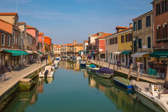 Buildings along the Grand Canal in Venice Royalty Free Stock Photo
