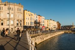 Buildings along the harbour front in Ramsgate, Kent, UK Stock Photos