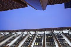 Buildings along La Salle Street Stock Image