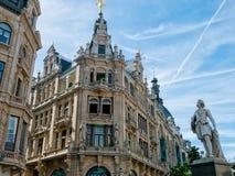 Buildings along Meir Street, Antwerp Stock Photo