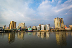 Buildings along the Pasig River, seen from Fort Santiago, in Int Stock Photography