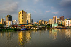 Buildings along the Pasig River, seen from Fort Santiago, in Int Royalty Free Stock Photos