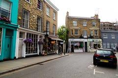 Buildings along Portobello Road in London Royalty Free Stock Photos