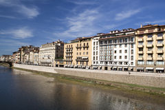 Buildings along the River Arno in Florence, Italy Stock Image
